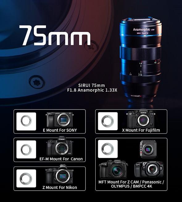 Sirui 75mm F1.8 1.33x