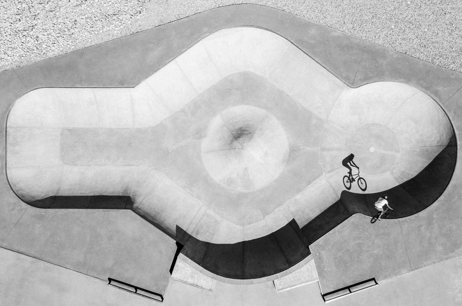 Best of Instagram by SanDisk: Baptiste Fauchille, France, with a shot from a buddies trip with a business goal showing Alex Bibollet's shadow in the bowl of Fillinges, France.