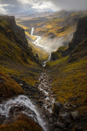First Place: 'Háifoss, Iceland' by Oleg Ershov (Russian Federation)/International Landscape Photographer of the Year