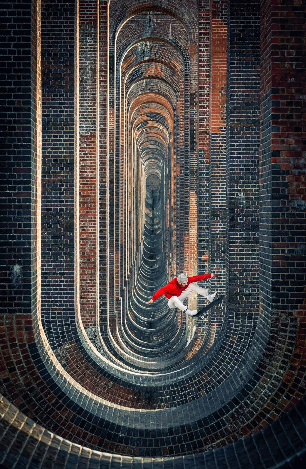 Playground: Lorenz Holder, Germany, with a shot of Vladic Scholz in the surreal Ouse Valley Viaduct, South England.