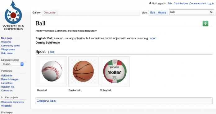 Wikiview fotoğraf tarayıcısı, Wikimedia Commons
